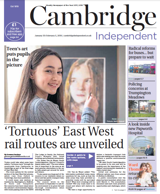 Cambridge Independent Newspaper January 30th 2019