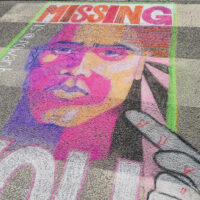 Missing You, Chalk Drawing