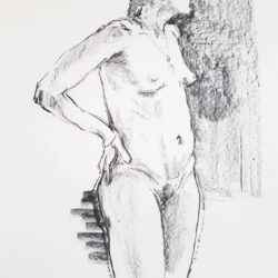 Charcoal Life Drawing Rowan Briggs Smith