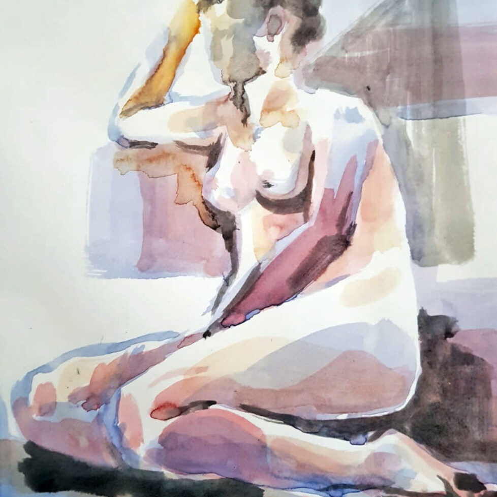 Life drawing watercolour sketch Rowan Briggs Smith